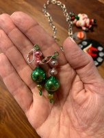 I also bought these cute ornament earrings from Kerry - very mid-century modern ornaments too!