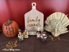"The dining room buffet decor - the ""family"" board is something I found at Target a few years ago. Target always has some great decorating items in their Dollar Section!"