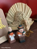 Pilgrim couple and turkey from my mom's decorating collection