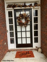 Front door decor! I've been using this wreath and swag since 2012. I've been wanting to update but then I put the wreath on the door and I fall in love with it all over again!