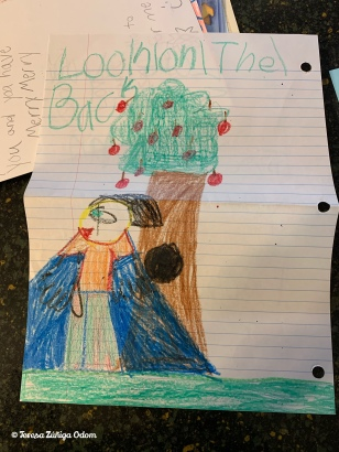 Emily's drawing for Santa one year