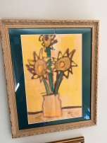 My son, Charlie's , interpretation of the Van Gogh sunflowers when he was in elementary school.