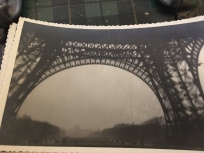 My mother took this picture of the Eiffel Tower in the 1950s in Paris