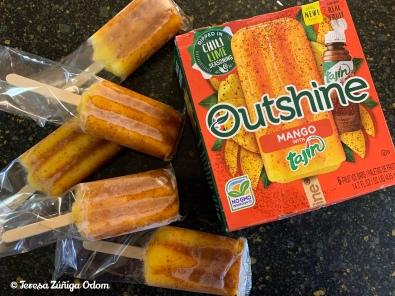 Outshine Mango popsicles with Tajíin