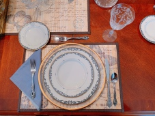French themed table set