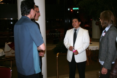 Frank speaking to guests at the reception